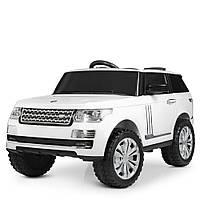 Детский электромобиль джип Ленд Ровер Land Rover M 4199EBLR-1, белый (красный), MP3, EVA.
