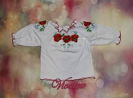 Вышиванка для девочки с длинным рукавом кулир-пенье