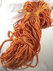 Шнур для одягу поліпропіленовий колір помаранчевий 100 метрів