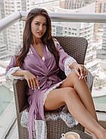 Романтичный шелковый халат. Женская одежда для дома