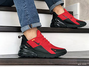 Мужские кроссовки Nike Air Max 270,сетка,красные с черным, фото 2