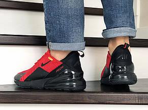 Мужские кроссовки Nike Air Max 270,сетка,красные с черным, фото 3