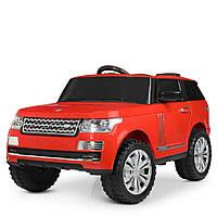 Детский электромобиль джип Ленд Ровер Land Rover M 4199EBLR-3, красный (белый), MP3, EVA.