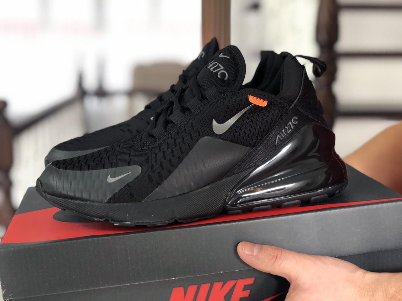 Мужские кроссовки Nike Air Max 270,сетка,черные