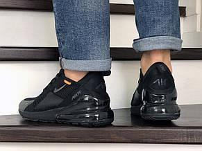 Мужские кроссовки Nike Air Max 270,сетка,черные, фото 3