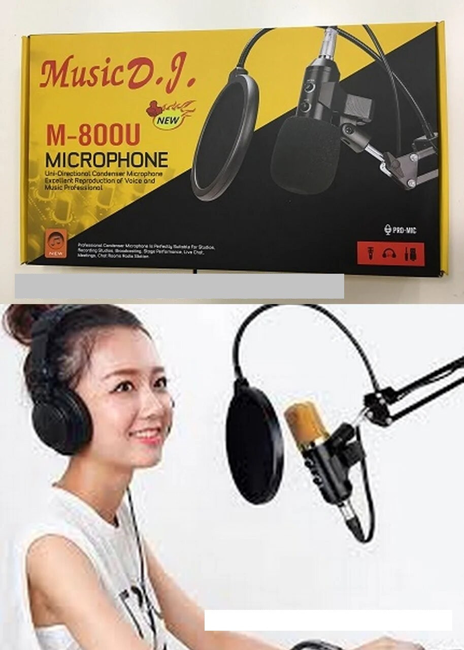 Студийный микрофон со стойкой Music D.J. M-800U