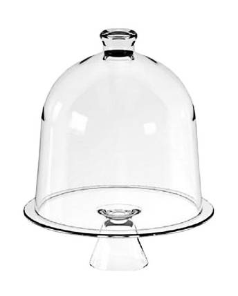 Тортовница стеклянная CANDY BAR, d 30 см, h 38 см Mazhura mzV026, фото 2