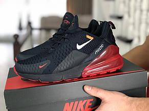Мужские кроссовки Nike Air Max 270,сетка,темно синие с красным, фото 2