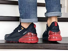 Мужские кроссовки Nike Air Max 270,сетка,темно синие с красным, фото 3