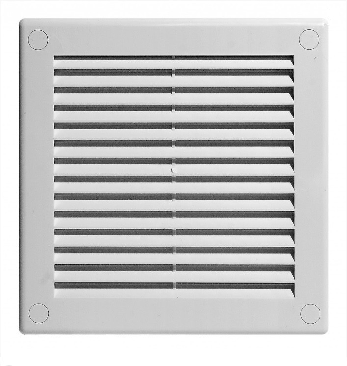 Вентиляционная решетка АВ 100х100 белая