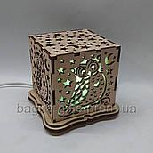 Соляний світильник Куб Сова