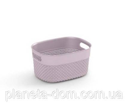 """Корзина для хранения  KIS """"Filo Basket XS"""" (23,5х17,5х12 см) розовая."""
