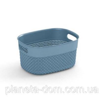 """Корзина для хранения  KIS """"Filo Basket XS"""" (23,5х17,5х12 см) серая."""