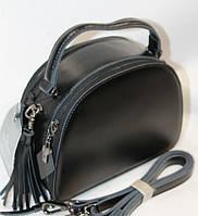 Женская кожаная сумка на плечо 12033В Black кожаные сумки, кожаные клатчи оптом Одесса