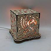Солевой ночник - кубангел. Оригинальный подарок - соляная лампа светильник сыну дочке ребенку на рождение