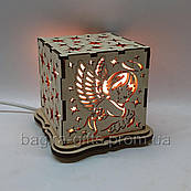 Соляний світильник Куб Ангел
