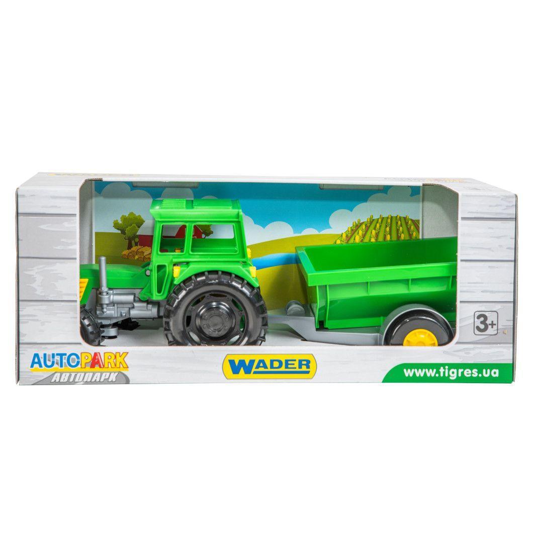 Фермер Трактор з причепом в коробці Тигрес (39348)