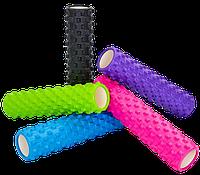 Роллер массажный Grid Rumble Roller 14,5х61 см для фитнеса, йоги, самомассажа спины (FI-6280)