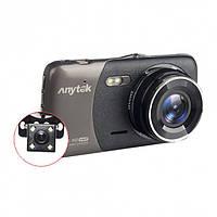 Автомобильный видеорегистратор Anytek B50H с камерой заднего вида, фото 1