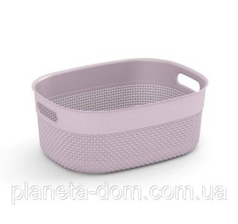 """Корзина для хранения  KIS """"Filo Basket М"""" (38х28,5х15 см) розовая."""
