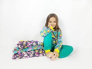 "Пижама детская ""LOL"" штаны+кофточка зеленая (P202)"