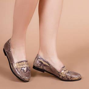 Туфлі жіночі Пітон натуральна шкіра Розміри 36-41, фото 2
