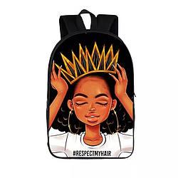 Рюкзак с принтом для девочек подростков Африканская принцесса