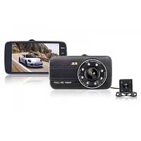 Видеорегистратор автомобильный на две камеры DVR CT520 S16 FULL HD, фото 1