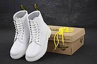 Женские зимние ботинки Dr. Martens 1460 White, Доктор Мартинс белые