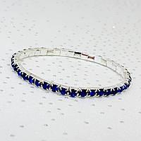 Браслет женский с камнями на руку синий от Sion-Lux