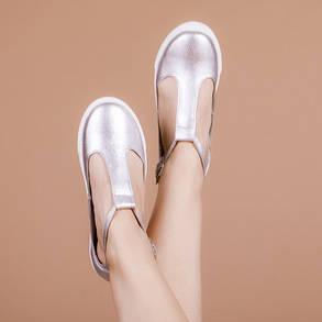 Туфли женские Серебро  натуральная кожа Размеры 36-41, фото 2