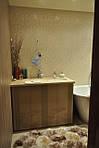 тумба в ванную крашеная. Фасады глянцевые фрезерованные