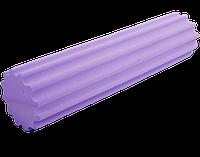 Валик-ролл массажный ребристый Foam Roller 15х60 см для йоги, фитнеса, массажа спины и тела