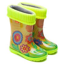 Резиновые сапоги Demar для девочки, весенняя поляна, размер 20-35