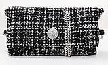 Плаття-сарафан твідове пряме в клітку (чорна в білу клітинку, р. S-XL), фото 6