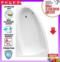Асимметричная акриловая ванна 160x100 см Excellent Aquaria Comfort WAEX.AQL16WH левосторонняя