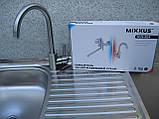 Мийка з тумбою 80х50 накладна і краном MIXXUS, фото 3