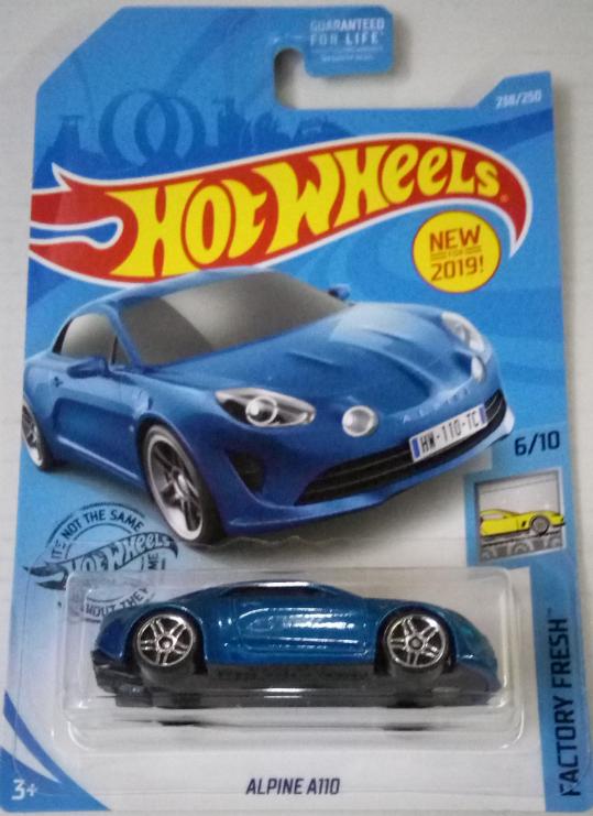 Машинка Hot Wheels 2019 Alpine A110