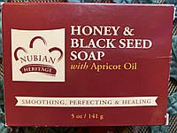 Мыло Nubian Heritage с медом, черным тмином и абрикосовым маслом, фото 1