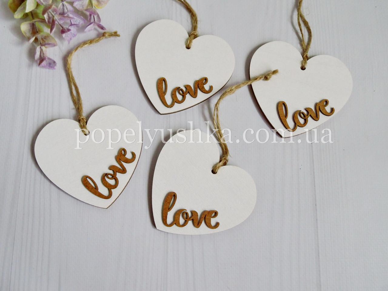 Підвіска серце  Love