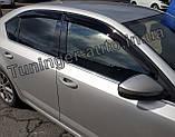 Ветровики, дефлекторы окон Skoda Octavia A-7 2013- (ANV), фото 2