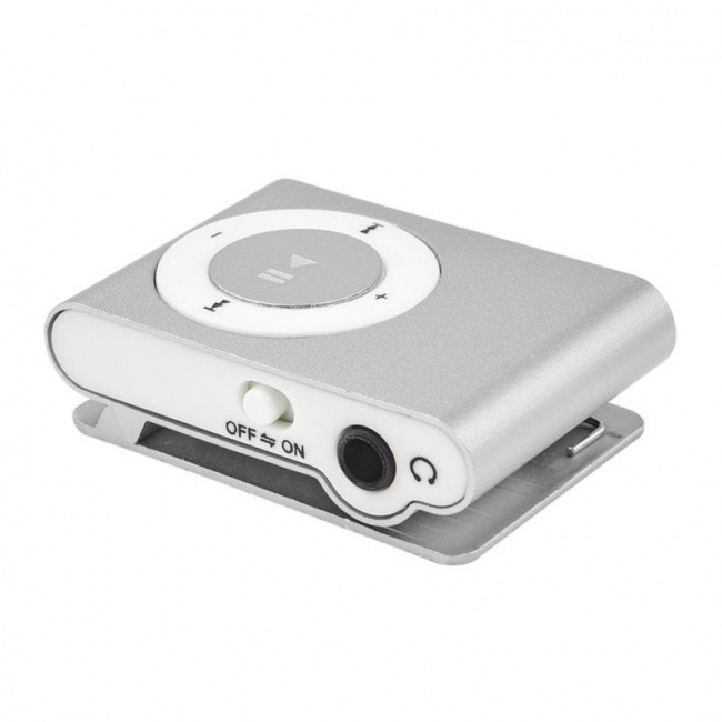 MP3 плеер клипса серебристый