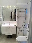 """тумба в ванную """"рюшечка"""" от оникс мк. цвет фасадов белый"""