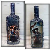 Декор бутылки The Witcher Оригинальный подарок для ценителей игр или серии книг «Ведьмак»