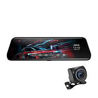 Автомобильный видеорегистратор зеркало с камерой заднего вида Anytek T12+