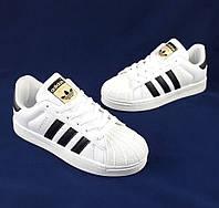 Кроссовки Adidas Superstar Белые Адидас Суперстар (размеры 36, 37, 38, 39, 40, 41)
