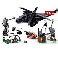 Конструктор SLUBAN M38-B0775 полиция, вертолет, машина, фигурки, 830 деталей