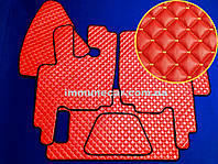 Автомобильные ковры экокожа DAF XF 95 МКП красные