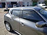 Ветровики, дефлекторы окон Nissan Juke 2010- (Auto clover D056), фото 3