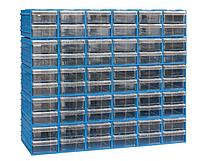 Кассетница (300)-15-60 с выдвижными прозрачными пластиковыми ящиками на 60 ячеек